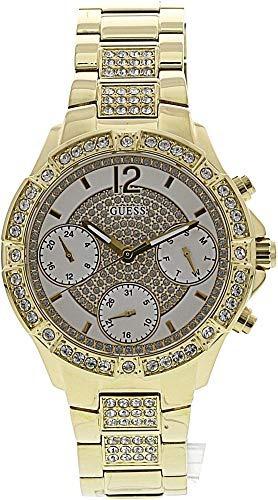 46a43e9f59d Reloj Para Mujer Guess Roxy Con Esfera Blanca Y Acero... -   107.990 en Mercado  Libre