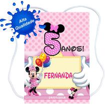 60 Mochilinhas Sacolinhas Personalizadas Minnie Mickey