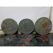Monedas Paraguay Lote X 3 10 Centavos 1900 Antiguas