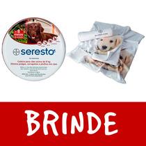 Coleira Seresto Bayer Para Cães Acima De 8 Kg Brinde Toalha