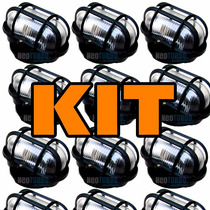 Kit 20 Luminária Tartaruga Grade Pp Iluminação Lustre