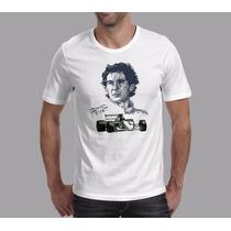 Camiseta Ayrton Senna F1 Mclarem Lotus Capacet Automobilismo
