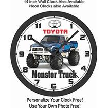 Juguete Toyota Pickup Monster Truck Reloj De Pared Libre De