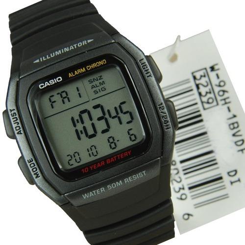 03d1b110f3c Relógio Masculino Esportivo Cronômetro Casio W-96h-1bvdf - R  209
