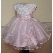 Vestido Importado Nena Bautismo Boda Fiesta 2-3 Años Usa