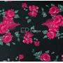 Flores Negro-Fucsia (Polilycra)