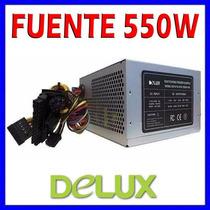 Fuente Poder Atx 550w Conectores Sata, 20+4 Pines (lara)