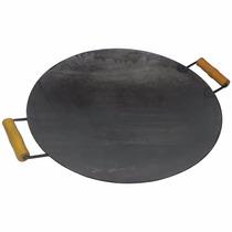 Disco De Arado Chapa Churrasqueira Frigideira 38 Cm Com Cabo