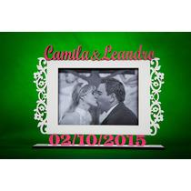 Porta Retrato Personalizado C Nomes E Data- Casamento/casais