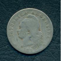 Moneda Argentina 1897 20 Centavos Cj#53.1