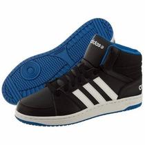 Hombre Adidas Neo Aros Vs Mid Basketball F97779 Negro Azul