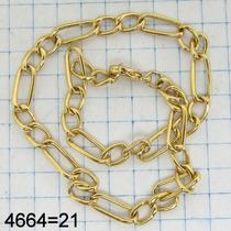 4664 Pulseira 21 Cm Oca De Ouro 18k 750