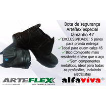 Botina Segurança Preta, Bico Composite, Tam. 47, Arteflex