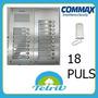 Kit Portero Eléctrico Commax 18 Departamentos Embutir