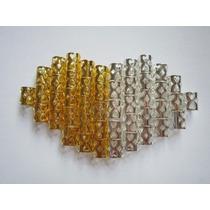 Anéis Para Dreads Ajustáveis, Cor Dourado E Prata 2 Unidades