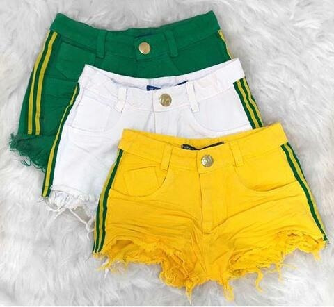 Short Jeans Feminino Hot Pants Cintura Alta Brasil 2018 - R  64 a876e5e18b7
