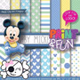 Kit Imprimible Pack Fondos Mickey Baby Clipart [009]