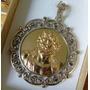 Medalla Antigua Cara De Cristo En Plata Y Oro