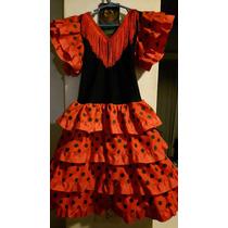 Vestido Español Flamenco Niña. T6