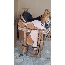 Sela Americana Para Cavalos Completa+manta! Frete Gratis