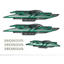 Kit Adesivos Honda Biz C 100 Es 2003 Verde Metálico