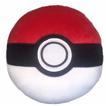 Almofada Pokémon Pokébola Bordada Pelúcia Travesseiro