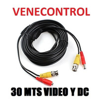 Cable Coaxial Camara Seguridad Cctv Bnc Video Corriente 30m