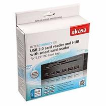 Leitor Cartão Sd Smart Card Hub Usb 3.0 Akasa Interno