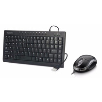 Kit Mini Teclado Multimídia + Mouse Usb C/ Led Azul