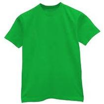 Franelas Verde 100% Algodón Para Estampar