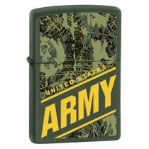 Zippo U.s. Army Verde Militar Encendedor Original Nuevo