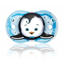 Razbaby Pacifier Keep-it-kleen, Ethan Penguin, 0-36 Meses