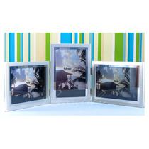 Porta Retratos Triplo Cromus, Articulado 15x10 - Cor Prata