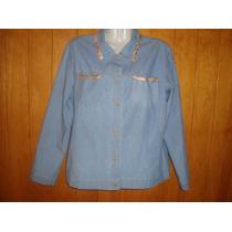 Hermosa Chaqueta De Jeans Talla M-l A Solo $ 5500