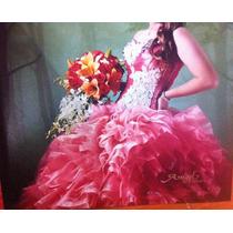 Vestido De Xv Años Color Coral Y Falda Corta