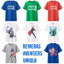 Remeras Uniqlo Avengers Edición Limitada