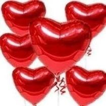 20 Balões Coraçao Vermelho 18 Polegadas 45cm