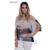 Blusa Ombro Caído - Kam Bess - Bl1509