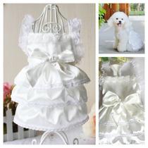 ** L U X O ** Vestido De Noiva Para Cães_pronta Entrega !