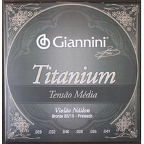 Encordoamento P/violão Giannini Titanium 8515 Media Genwtm