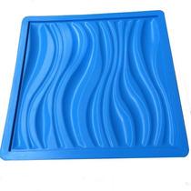 Molde Silicone P Gesso Placas Parede Em 3d - 39x39cm Ondas