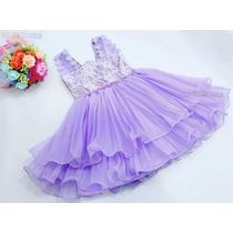 Vestido Princesa Sofia Fantasia Festa + Brinde Tiara 1a3anos