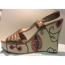 Zapatos Wedge Dolls By Nina Dama Forever Talla 25.5