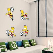 Adesivo De Parede - Futebol Bart Simpson - Flamengo Simpsons