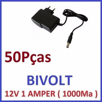 Fonte Estabilizada Bivolt 12v 1a Cftv Camera F. Led Aliment.