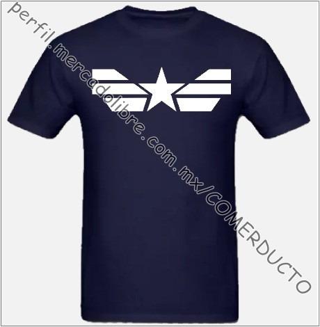 Playera Capitan America Winter Soldier Civil War Yogz -   195.50 en Mercado  Libre 2c3a81bf411c6