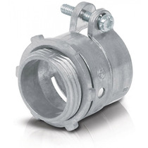 Conector Recto Tubo Flexible Metalico 3/4 Pulg Voltech 47341
