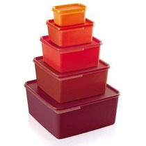 Tupperware Kit Basic Line Marsala Conj. De 5 Pças