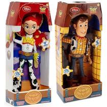 Toy Story Woody + Jessie 40 Cm Bonecos Pvc/pelúcia Falantes