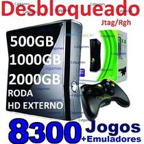 Xbox Hd160gb Desblokiado +d8300 Jogos + Brindes Loja Oficial